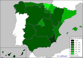 Espana Map Os Atheists In Spain 1388 972 Mapporn