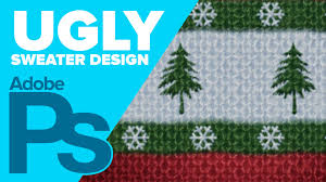 how to create an ugly sweater in photoshop youtube