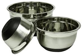 Imperial Home Decor Group Amazon Com Imperial Home 4pc Stainless Steel Mixing Bowl Set With