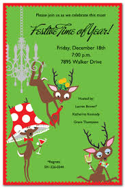 christmas brunch invitations drink deer party invitations christmas party invitations 18293