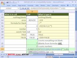 Count Number Of Words In Excel Excel Magic Trick 266 Count Words Only W Countif
