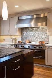 ideas manificent stainless steel penny round backsplash reflective