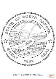 south dakota state seal coloring page free printable coloring pages