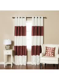 striped dupioni faux silk grommet top blackout curtain 84