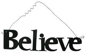 inspirational word believe wall hanging home decor metal