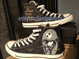 the nightmare before custom shoes high top painted