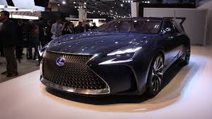 lexus lf lc play station lf lc concept heralds future lexus fuel cell flagship sedan auto