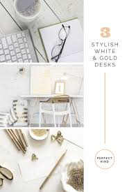 Office Table White Png White And Gold Desks For The Home Office Perfect Kind