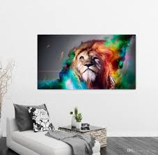 home decor wall posters ed drawing lion photo modern home decoration wall art canvas