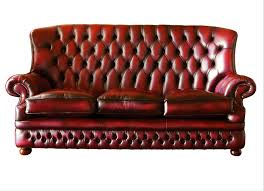 dark red leather sofa dark red leather sofa with high backrest and curvy armrest on short