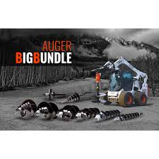 auger package for skid steer ctl and excavator skid steer solutions