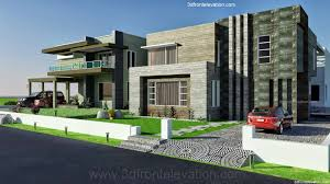 3d front elevation com 2 2 kanal dha karachi modern contemporary