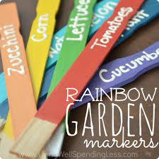 garden markers diy rainbow garden markers diy garden plant markers plant labels