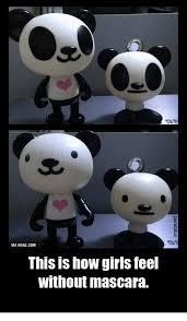 Panda Mascara Meme - 25 best memes about panda eyeliner panda eyeliner memes
