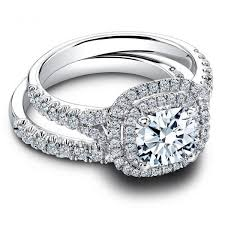 Halo Wedding Rings by 2 00 Carat Center Round Brilliant Cut Diamond Halo Engagement Ring