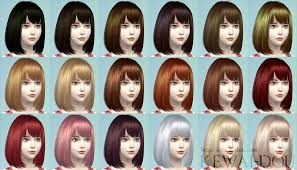 childs hairstyles sims 4 cecile the sims4 child hair kewai dou