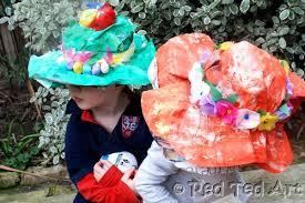 Easter Hat Decorations by Kids Crafts Easter Bonnets Red Ted Art U0027s Blog