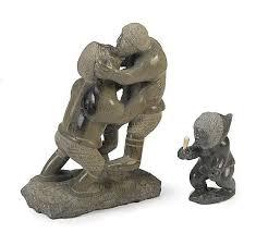 Inuit Soapstone Sculpture Enook Manomie Artwork For Sale At Online Auction Enook Manomie