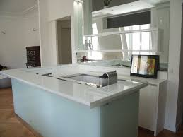 cuisine en verre blanc lineaquattro en verre blanc
