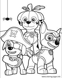 paw patrol halloween coloring pages printable