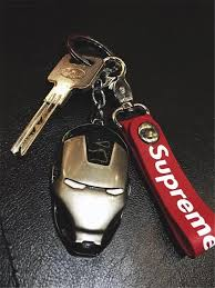 red key rings images Supreme red leather key chain metal key holder key ring new vip jpg