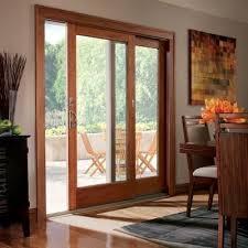 Wood Patio Door Andersen 71 In X 80 In 400 Series Frenchwood Terratone Right