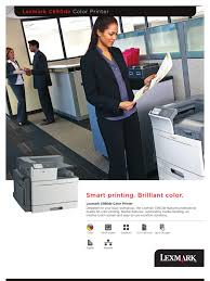 lexmark c950de product brochure printer computing touchscreen