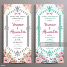 wedding invitation size wedding invitation two floral vertical cards size is 10x21 cm