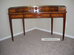 maitland smith leather top kidney shaped desk with workstation