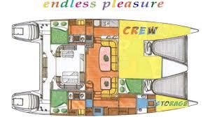 Catamaran Floor Plans by Luxury Charter Yacht Endless Pleasure Jeantot Marine Sailing