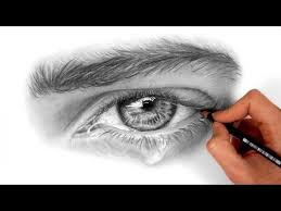 tutorial how to draw shade a eye with teardrop