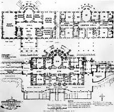 Architectural Plans For Houses Residence White House Museum