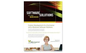 internet software brochure template design