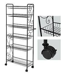 Free Standing Storage Shelf Plans by Amazon Com Hlc 6 Tier Freestanding Metal Bathroom Kitchen Storage