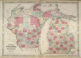 Detailed Map Of Michigan Antique Maps Of Michigan