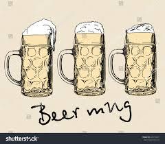 mugs design set beer mugs design elements logo stock vector 645313297