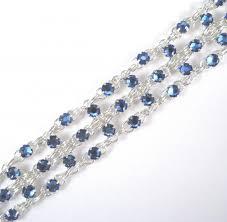 sapphire crystal bracelet images Crystal brick bracelet in sapphire blue swarovski crystal jpg