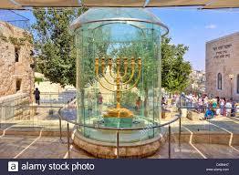 jerusalem menorah golden menorah in jerusalem israel stock photo 67870579 alamy