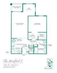 7 X 10 Bathroom Floor Plans by Floor Plans For Glen Eddy Senior Apartments U0026 Cottages 1 U0026 2 Bedroom