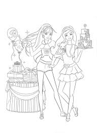 download coloring pages barbie christmas coloring pages print