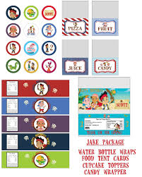 disney jake and the neverland pirates birthday party printable lot