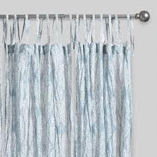 blue kashvi crinkle sheer voile curtains set of 2 world market