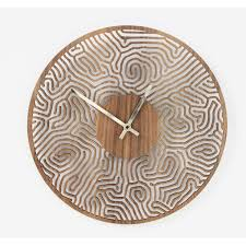 laser cut fingerprint wall clock denvers designs