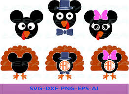 60 mickey mouse turkey monogram svg turkey svg