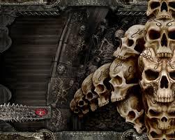 badass halloween background ghost skull pc wallpaper wallpapersafari