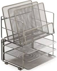 Mesh Desk Organizer Bargains On Desktop Trays Sorters 3 Tier Mesh Stackable Desk