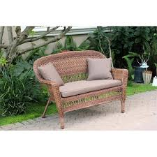 Garden Loveseat Bayou Breeze Benji Wicker Patio Loveseat Walmart Com