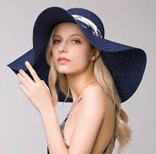 wide brim straw hat with hatband for women uv protection sun hats