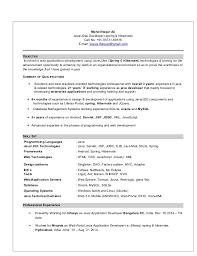 Java Developer Sample Resume by Resume Java Developer Sample Java Developer Resume Sample Doc