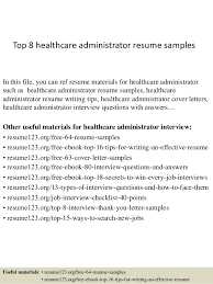 Healthcare Resume Samples Best Solutions Of Healthcare Administration Resume Samples For